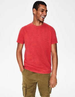 Washed Crimson Garment-dyed Marl T-shirt
