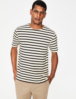 Ecru/Navy Stripe Short Sleeve Chichester