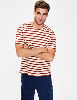Ecru/Cayenne Pepper Stripe Short Sleeve Chichester