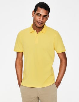Washed Yellow Piqué Polo