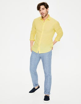 Washed Yellow Linen Cotton Shirt