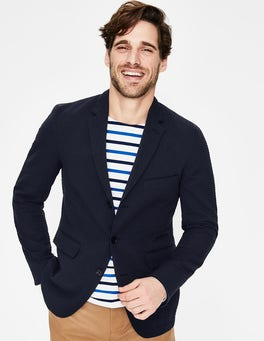 Navy Cleadon Seersucker Blazer