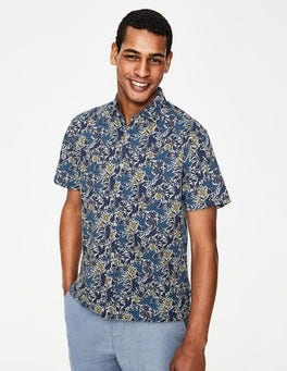 Navy Blue Bird Ashburton Short Sleeved Shirt