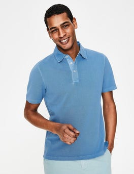 Chalk Blue Garment-dyed Polo
