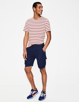Light Navy Felton Linen Cargo Shorts