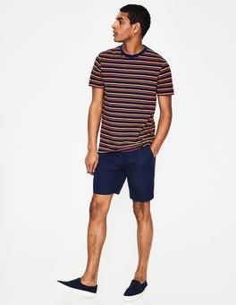 Light Navy Linen Drawstring Shorts