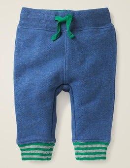 Strahlendes Blau Basic-Jerseyhose