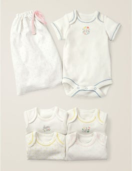 5 Pack Bunnies Bodysuits