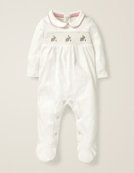 Smocked Bunnies Sleepsuit