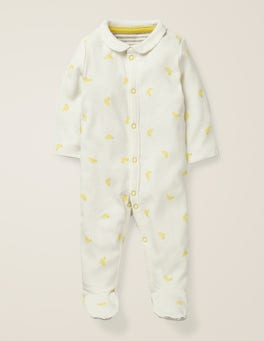 Yellow Baby Ducks Printed Ducks Sleepsuit