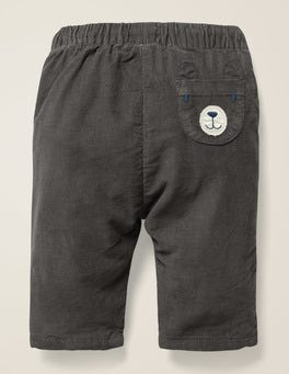 Night Owl Grey Bear Pocket Cord Trouser