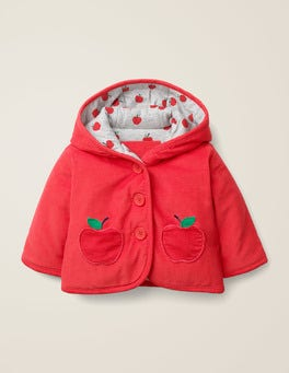 Carmine Red Apple Cosy Cord Jacket