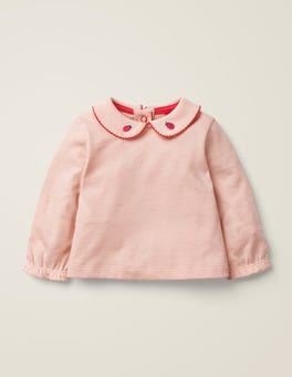 Provence Dusty Pink Collar T-Shirt
