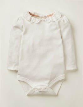 Ivory Broderie Collared Body