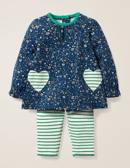 Starboard Blue Ditsy Floral Supersoft Jersey Play Set