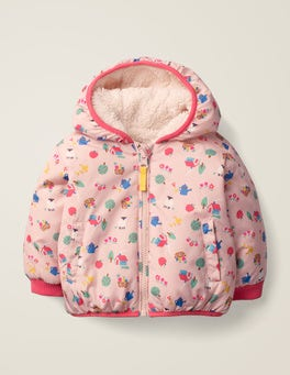 Provence Dusty Pink Farm Printed Reversible Coat