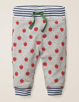 Grey Marl Apples Reversible Jersey Pants