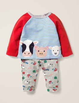 Ivory/Elizabethan Blue Farm Fun Jersey Play Set