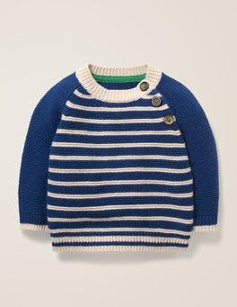 Navy/Ecru Fun Stripe Sweater