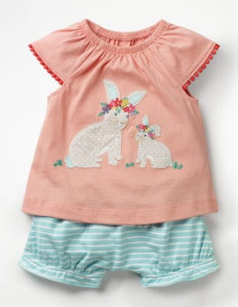 Shell Pink Bunnies Jersey Logo Play Set