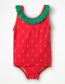 Festival Pink Strawberry Novelty Summer Swimsuit