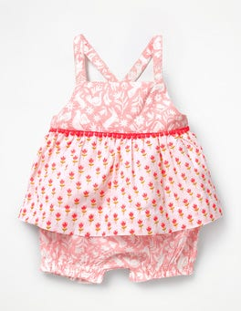 Shell Pink Bud Printed Woven Play Set