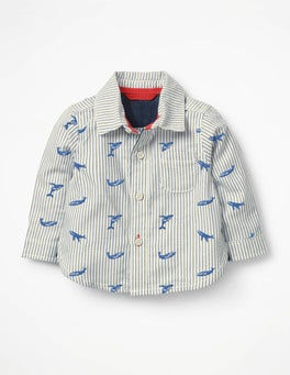 Duke Blue Embroidery Embroidered Whales Shirt