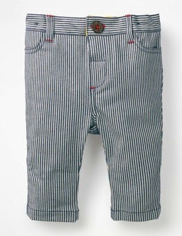 Indigo Blue Ticking Colourful Chino Trousers