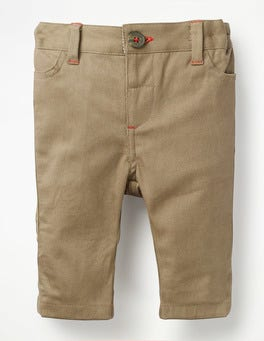 Nutty Brown Colourful Chino Trousers