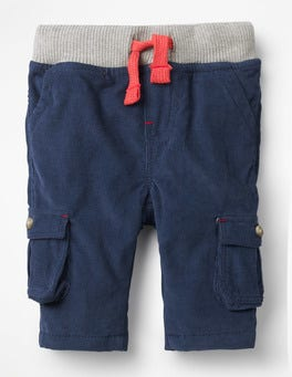 College Blue Pull-on Cargo Trousers