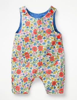 Multi Jolly Floral Heart Pocket Overalls