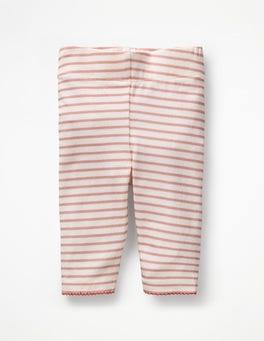 Mandelblütenrosa/Naturweiß Baby-Leggings