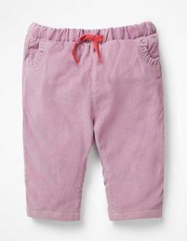 Delphinium Purple Strawberry Pretty Pocket Cord Trousers