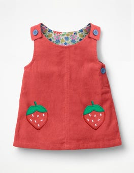 Jam Red Pocket Cord Dress