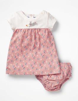 Almond Blossom Vintage Cherry Animal Jersey Dress