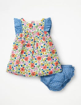 Multi Jolly Floral Floral Woven Dress