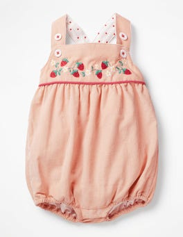Provence Dusty Pink Floral Woven Romper