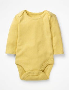 Buttercup Yellow Supersoft Pointelle Bodysuit