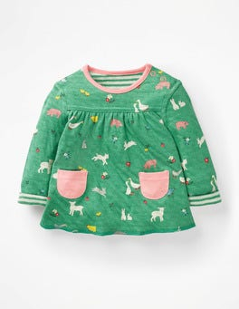 Jungle Green Farm Farmyard Reversible T-shirt