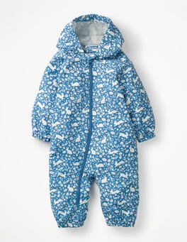 Elizabethan Blue Wild Bunnies Bunnies Waterproof Rainsuit