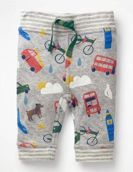 Grey Marl London Bustle Fun Reversible Trousers