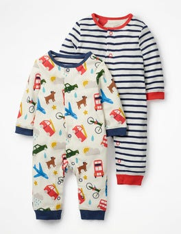 Ivory London Bustle Fun Twin Pack Rompers