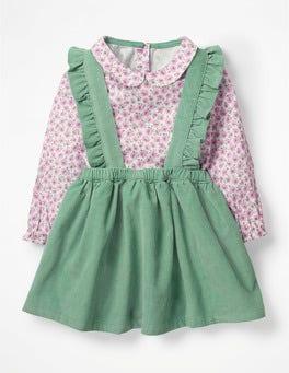 Lilac Pink Blossom Nostalgic Woven Skirt Set