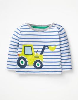 Ivory/Duke Blue Digger Big Appliqué T-shirt