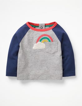 Grey Marl Rainbow Wonderful Weather T-shirt