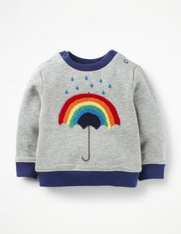 Grey Marl Rainbow Cosy Sweatshirt