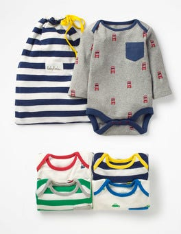 Stripe Pack Fun 5 Pack Bodysuit