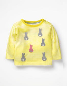White/Sunshine Bunny Farmyard Bouclé T-shirt