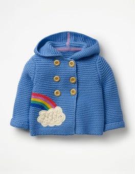 Elizabethan Blue Rainbow Rainbow Knitted Jacket