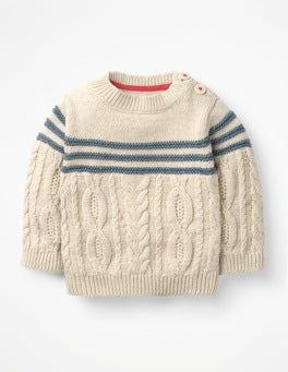 Ecru Marl Fun Knitted Jumper